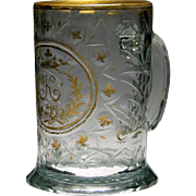 Fine Engraved And Gilded 18th Century Glass Tankard