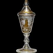 Gilded Lidded Goblet c1800