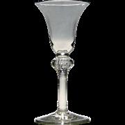 18th Century Light Baluster Wine Glass c1740