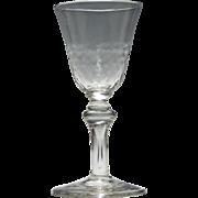 Georgian Light Baluster Wine Glass c1740