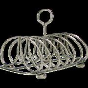 Scottish Silver Six Division Toast Rack Edinburgh 1819