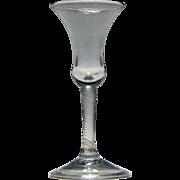 Georgian Incised Twist Wine Glass c1755