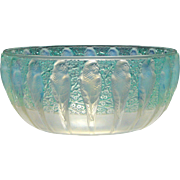 Rene Lalique Opalescent Perruches Glass Bowl c1930