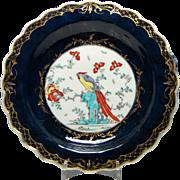 First Period Worcester Sir Joshua Reynolds Pattern Dessert Plate c1770