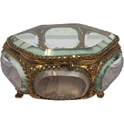 French bijoux box in hexagonal design - France - approx. 1900