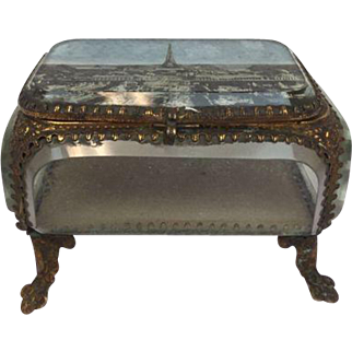 French bijoux chest - The Eiffel Tower - France - approx. 1900