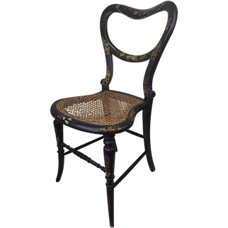 Victorian bedroom chair inlaid with mother of pearl - England - Approx. 1880