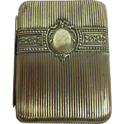 Silver-plated cigarette case - Art Nouveau - Approx. 1900