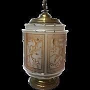 Baccarat signed lantern lamp - France - Ca. 1890