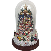 "Franklin Mint - Music box ivv a Christmas tree ""Cat Claws"" with glass dome - USA - Second Half 20th Century"