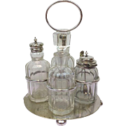 Cruet set in silver plate - Late Victorian England - Approx. 1920