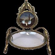 """Napoleon III """"Eglomise"""" Porte-montre of glass - France - Ca. 1850"""