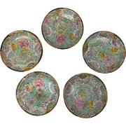 Chinese porcelain dishware - 5 pieces - hand painted - China - Approx. 1960