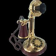 Franklin Mint -Alexander Graham Bell Phone - gold plated 24k - Ca. 1980