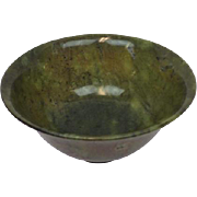 Spinach jade bowl - China - Approx. 1900