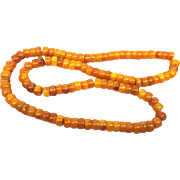 Necklace of amber beads
