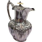 Silver-plated teapot with bone - William Wheatcroft Harrison - Sheffield, England - (1912 - 1919)