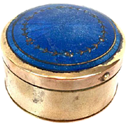 Copper box with guilloche enamel, first half 20th century, France,