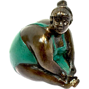 Lady in bronze swimsuit - 20th century