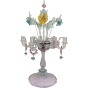 Murano candlestick with 5 light arms - Italy - Ca. 1900