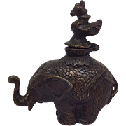 Bronze Elephant for Incense - Approx. 1940