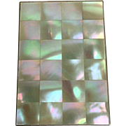 Gilted cigarette case with mother of pearl - England - Approx. 1930