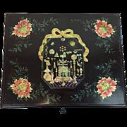 Rare VOC: box, wood, lacquer and mother of pearl - Freemason - Nagasaki, Japan - first quarter 19th century