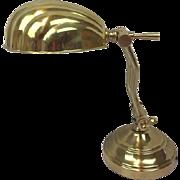Brass desk shell lamp - Late 20th century