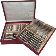 84-piece (12 persons) Heavy silver plated cutlery in box - Solingen - Germany - Approx. 1940