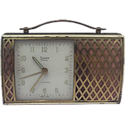 Swiza Coral travel alarm clock - music box - Approx. 1970