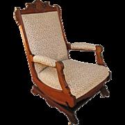 Antique Victorian Platform Arm Rocking Chair  f197