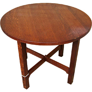 Gustav Stickley Round Table f6995