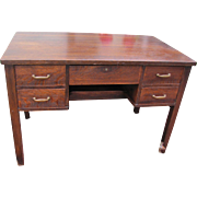 "Antique Early ""Gustav Stickley"" Desk with Five Drawers Circa 1902 Model #709   f799"