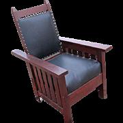 Antique ARTS & CRAFTS Morris Chair  f882
