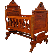 Antique Victorian Cradle f9895