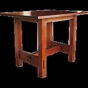 Antique Gustav Stickley Lunch Table   ff519