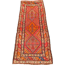 Antique Caucasian Kazak Runner Rug   rr1339