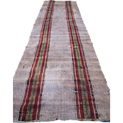 Vintage Amish Rag Rug   rr1515