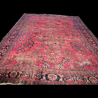Antique Persian Lilihan Oriental Rug   rr2080   FREE SHIPPING