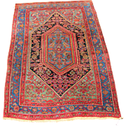 Rare And Superb Antique Persian Bidjar Oriental Rug  rr2708