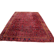 Antique Beautiful Indo Kashan Oriental Rug  rr2832