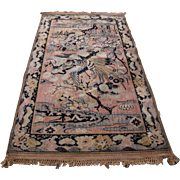 "Antique Persian ""Birds of Paradise"" Rug   rr2858"