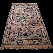"Antique Persian ""Birds of Paradise"" Rug   rr2858"
