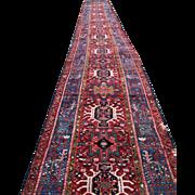 Rare Vintage Persian Karajeh Oriental Long Runner Rug  rr2960