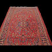Antique Kashan Oriental Rug  rr2988