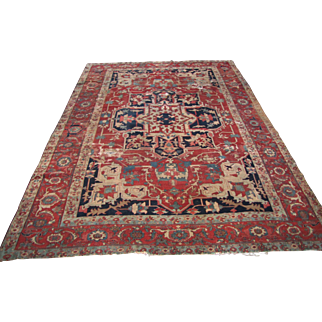 Superb Antique Persian Serapi Rug  rr3107