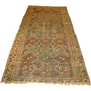 "Antique Caucasian oriental rug 38"" by 73"" Super Colors  rr3230  FREE SHIPPING"