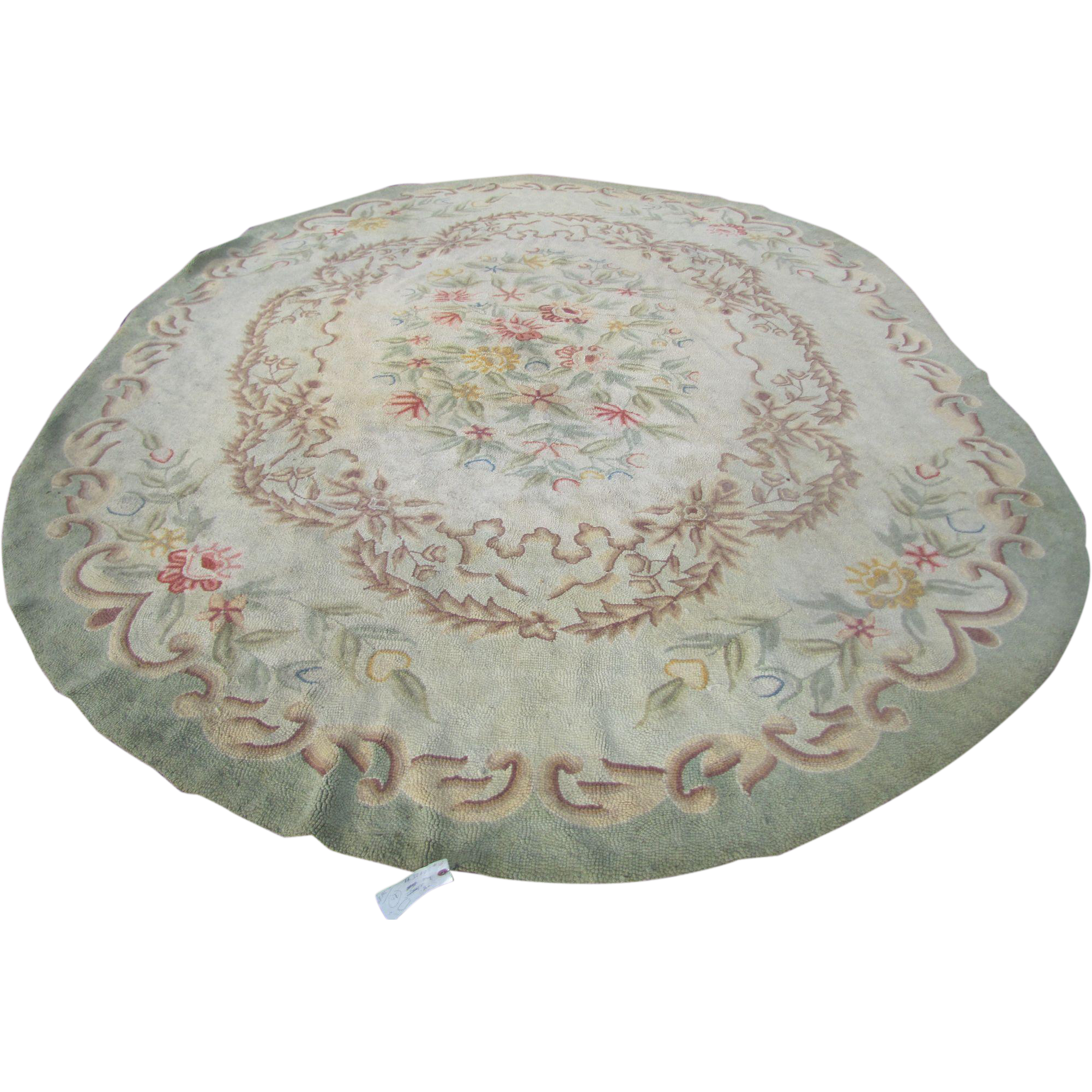 Vintage Room Size Oval Hooked Rug Rr3260 From Antique