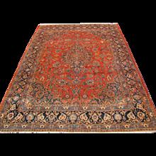 Antique Large Persian Sarouk Rug 10'x13'   rr3266  FREE SHIPPING