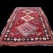 Superb Decorated Antique Caucasian Rug  rr3281
